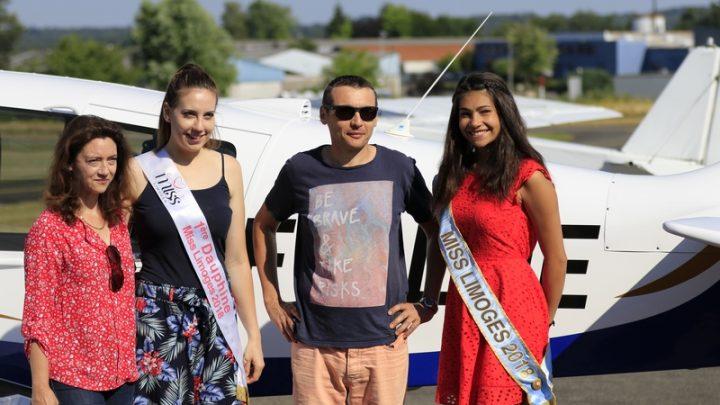 Baptême de l'air pour Miss Limoges et sa Dauphine