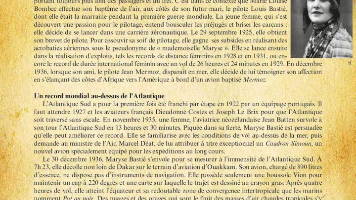 Chronique aérospatiale : 30 Décembre 1936, Maryse Bastié traverse l'Altlantique Sud