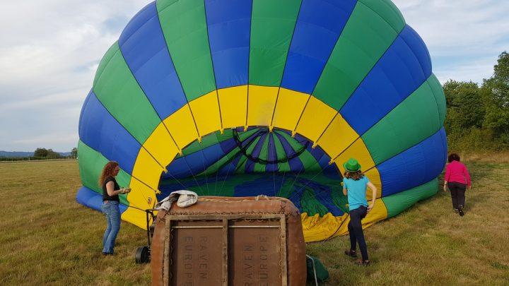 Montgolfière au décollage de St Junien