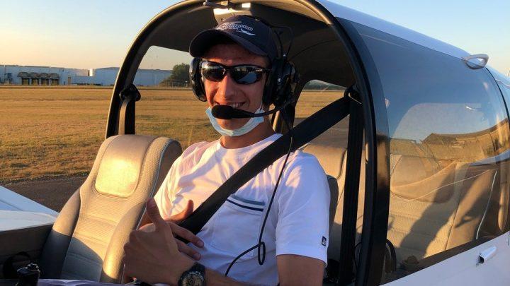 Premier vol en solo sur avion pour Damien G.