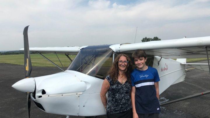 William – 15 ans – vol seul à bord avec son SkyRanger